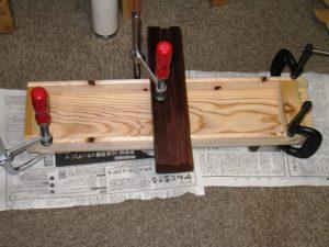 猫用爪とぎをセットする台を作ってみました